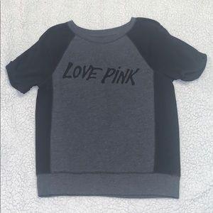 Black and gray PINK shirt.